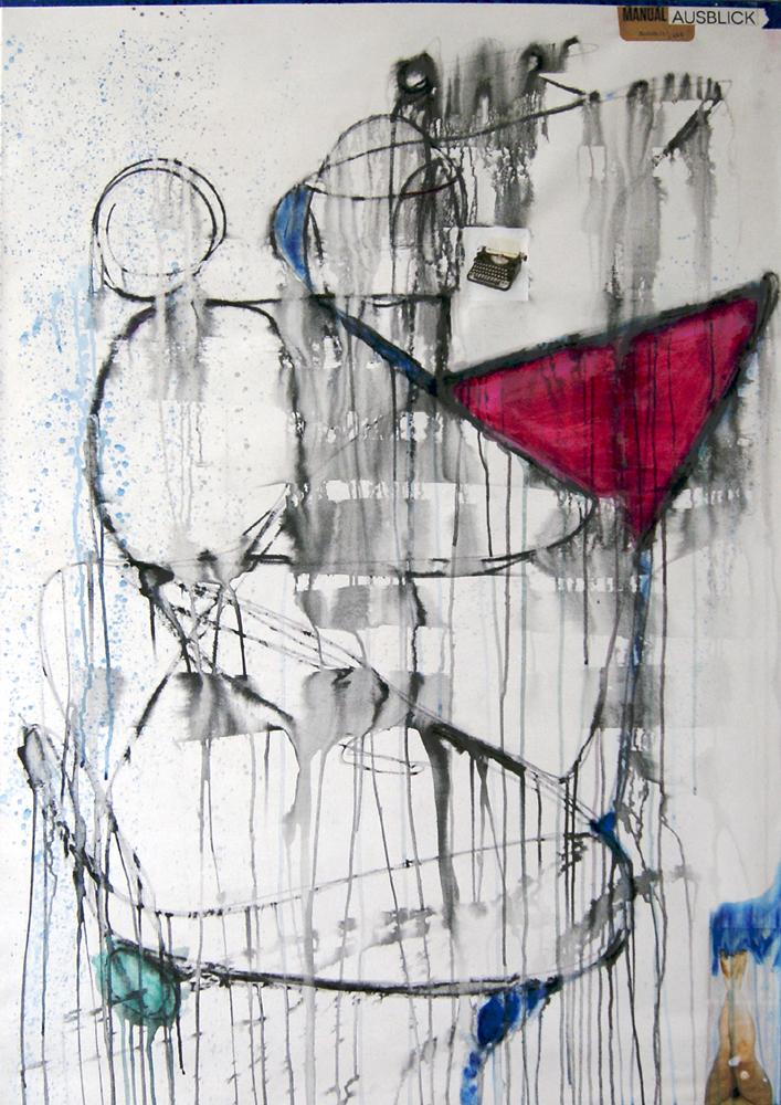 Manual Ausblick. Mixed technics on canvas. 135X95 cm. 2017